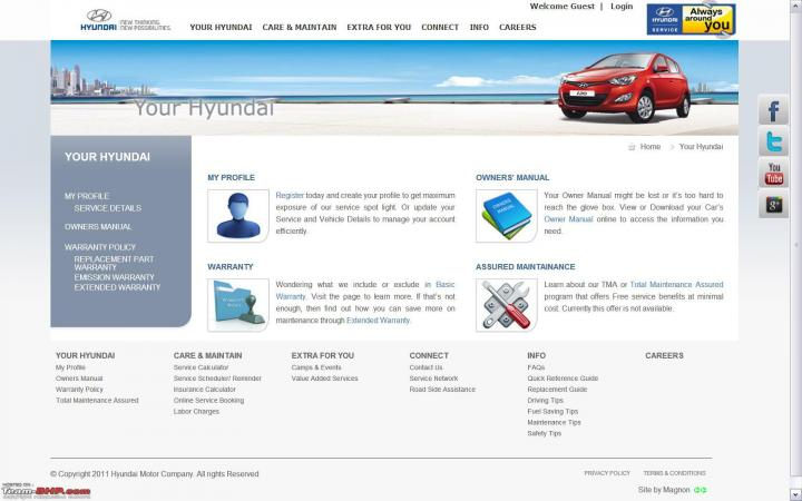 Launched full feature service website for hyundai car for History of hyundai motor company
