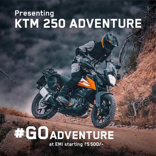 KTM 250 Adventure launched at Rs. 2.48 lakh