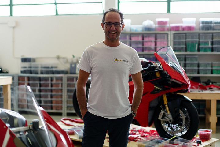 Ducati unveils full-size Panigale V4 R made from LEGO