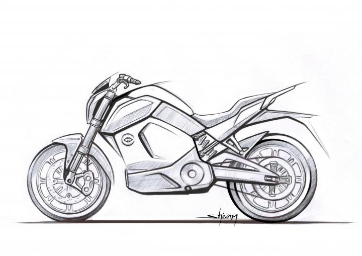 Revolt e-bike first design sketch revealed