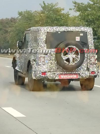 Scoop! 2020 Mahindra Thar alloy wheels, tail lights spied