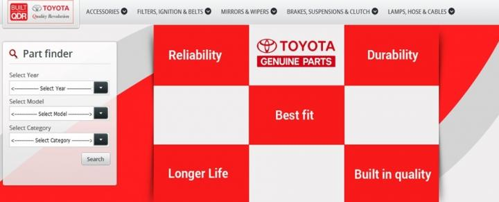 Toyota Parts Online >> Toyota Parts Connect Online Channel For Spare Parts Team Bhp