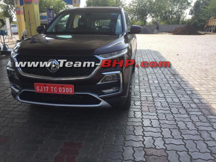 Scoop Mg Hector Caught Without Camo In India Team Bhp