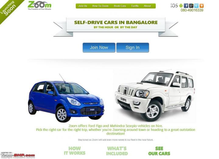 Zoom Pay Drive New Self Drive Option In Bangalore TeamBHP - Audi zoom car