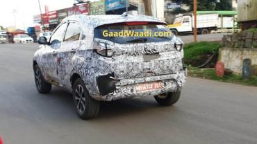 More images: Tata Nexon facelift spied