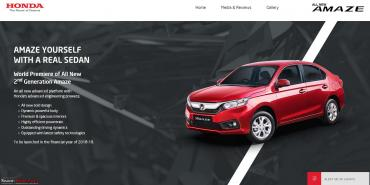 2nd-gen Honda Amaze official website goes live