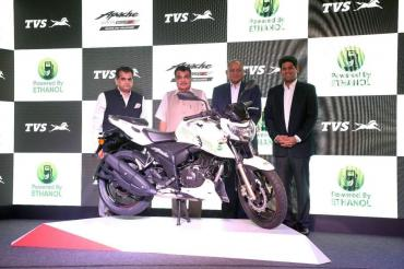 Ethanol-powered TVS Apache RTR 200 launched at Rs. 1.20 lakh