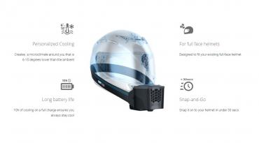 BluSnap wearable helmet cooler available for pre-order