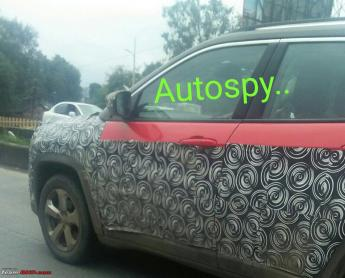 Jeep Compass with 1.6L diesel engine spotted in Pune