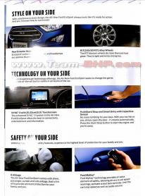 Leaked: FULL brochure of EcoSport Facelift
