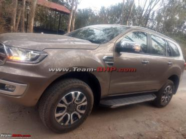 Scoop! Ford Endeavour facelift spied undisguised