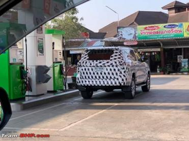 Toyota Fortuner facelift spied in Thailand