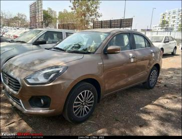 2017 Maruti Dzire starts reaching dealership stockyards