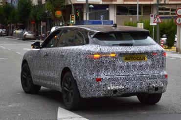 Jaguar F-Pace facelift spotted testing; could get hybrid tech