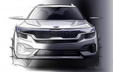 Kia SP2i mid-size SUV first design sketches out