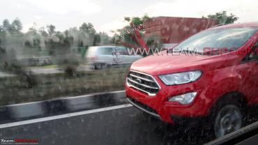 Scoop! Ford EcoSport facelift spotted without camouflage