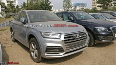 More images: Next-gen Audi Q5 spotted at dealer yard in Pune