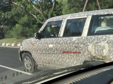 More images: TUV300 Plus facelift spied