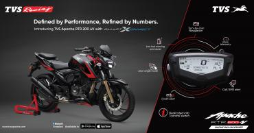 TVS Apache RTR 200 4V with Bluetooth priced at Rs. 1.14 lakh