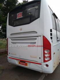 Volvo intercity bus caught testing