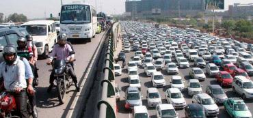 Delhi Gurgaon Expressway: 24 lanes shut, 15 km traffic jam