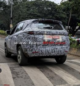 More images: Tata Harrier spotted with production-spec body
