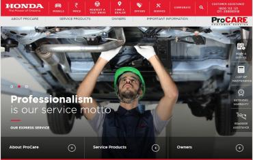 Honda launches new customer service website
