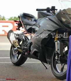 More images: TVS Apache RR 310 spotted undisguised