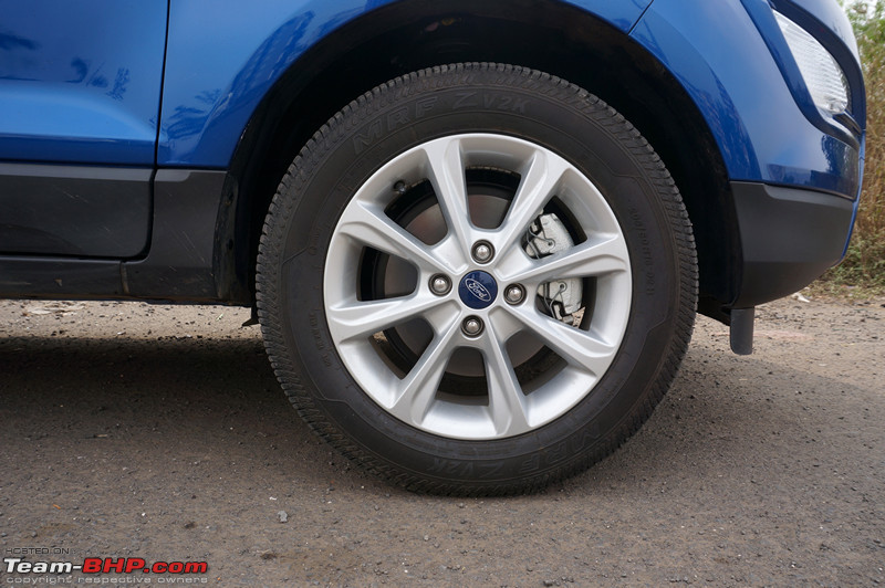 Small Mud Flaps Located Ahead Of The Rear Tyres Are Gone  Ecosport Had Them Reference Image