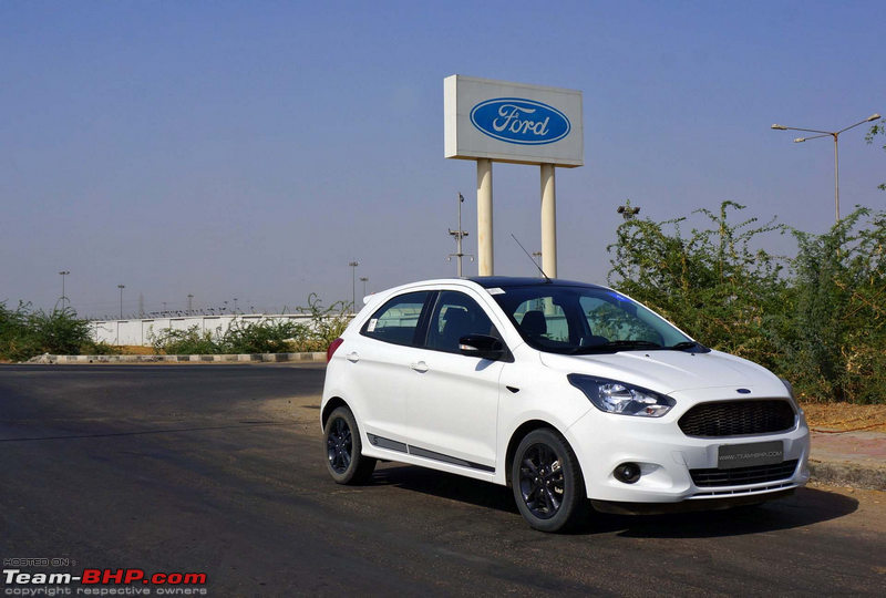 A Parting Shot Outside Fords Sanand Plant Where The Figo Is Manufactured This Was A Rare Media Drive Organised In Gujarat