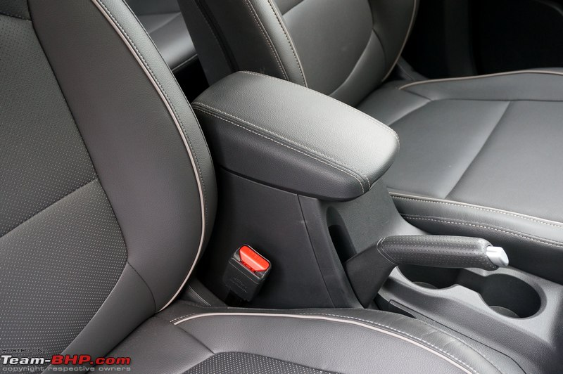 Driver Armrest Gets Leather But No Adjustments Its Fixed Position Will Suit Some Drivers Not All