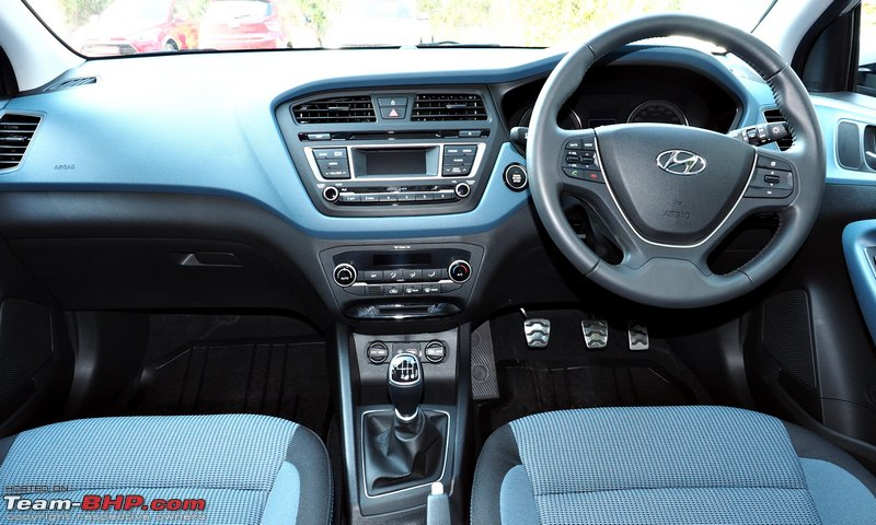 Hyundai i20 active a close look team bhp for Interior hyundai i20