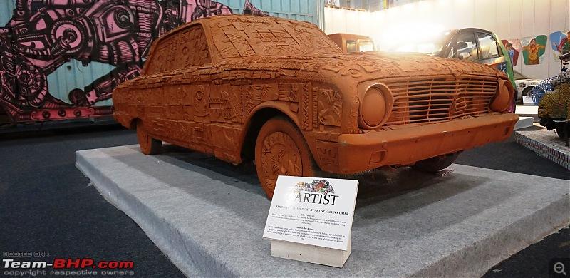 Cartist (automotive art) @ Auto Expo 2018-terracotafront.jpg