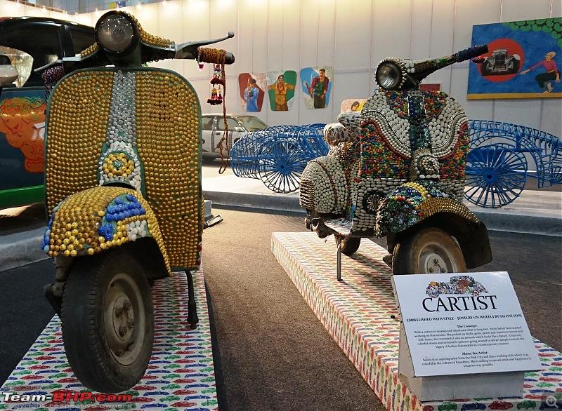 Cartist (automotive art) @ Auto Expo 2018-scooterfront.jpg