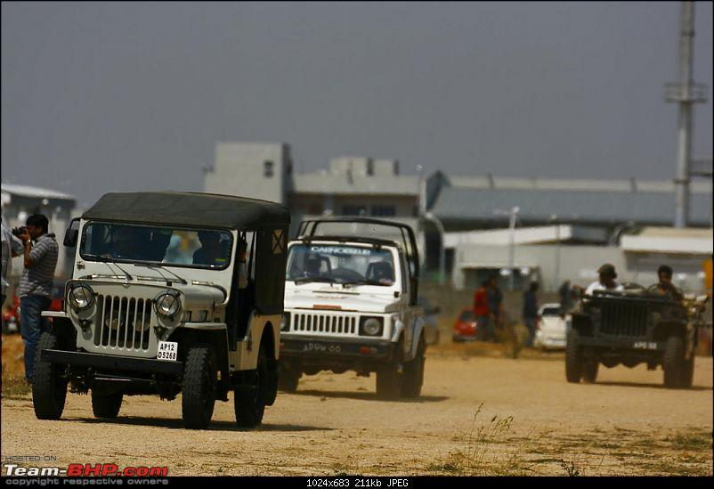 Hyderabad - Jeep Thrills Summer Challenge 2009 - Sunday 29 March-gypsy-among-jeeps.jpg