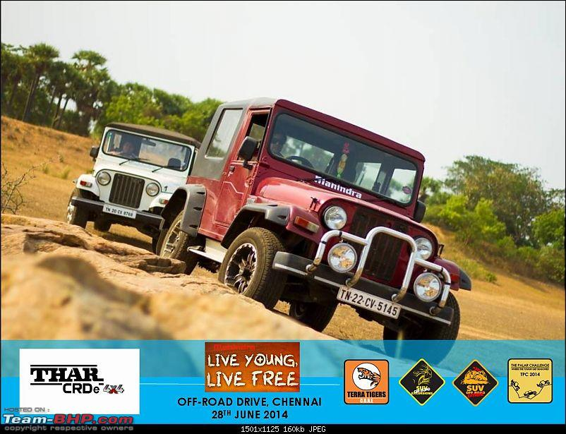 Mahindra 'Live Young, Live Free' Offroad Drive. Chennai on 28th June 2014-picture01.jpg