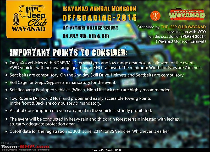 Wayanad Annual Monsoon Offroading - 4th to 6th July, 2014-important-points.jpg