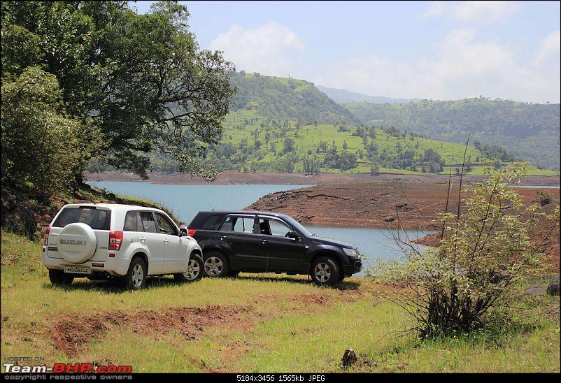 2 Grand Vitaras go offroading - At Panshet Lake-003-lakeside-3compressed.jpg