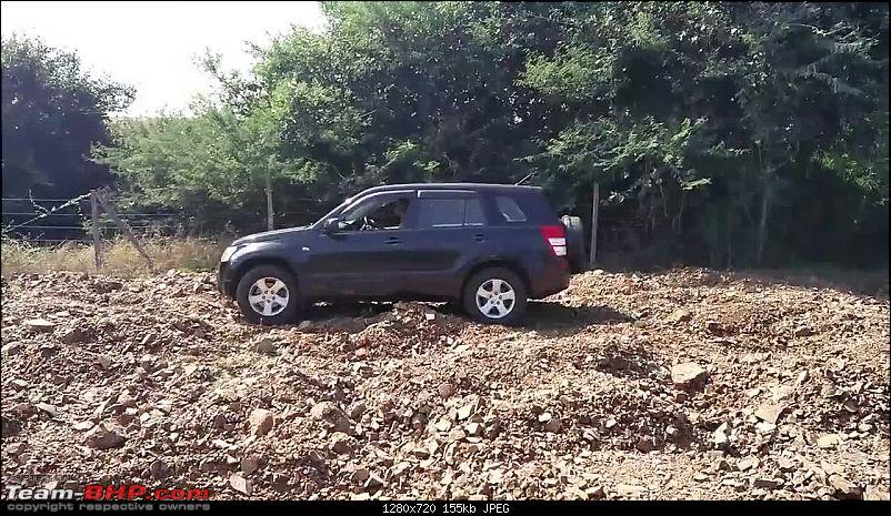 A Mercedes GL, 2 Grand Vitaras, a Sugarcane farm and a tow cable-041-completeting-field-crossing-after-tow.jpg