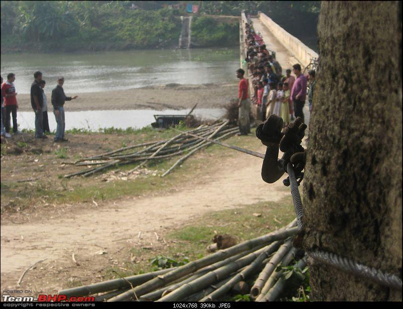 Offroading event in the city of joy - Kolkata chapter's first OTR report-winch-tied-tree.jpg