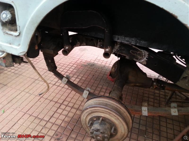 Installing Remote Reservoir Shock Absorbers in a Mahindra Jeep-rear-hoop-welded.jpg