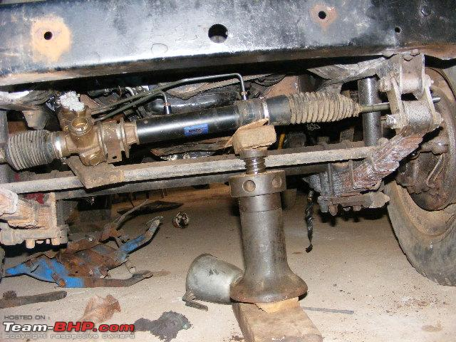 Power Steering On An Mm540 550 Jeep Page 3 Team Bhp