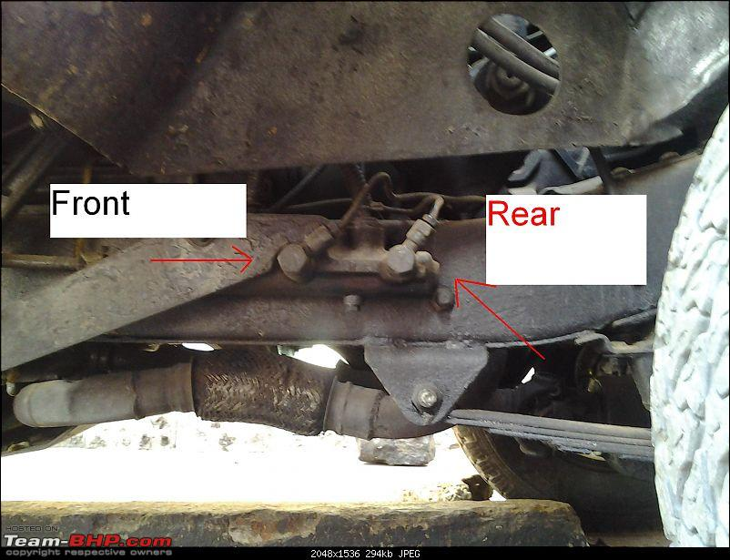 DIY - Simple Hand brake for Jeeps - Ball Valve as a Line Lock-under-chassis-b4-fit.jpg