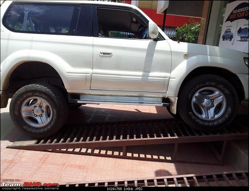 "1998 Toyota 90 Series SWB 3 Door Land Cruiser Prado. EDIT: Now with 2"" Ironman Lift-prado_articulation_1.jpg"