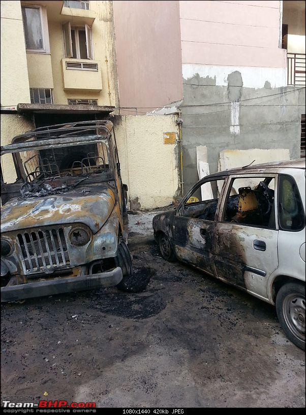 1 day old Mahindra Thar catches fire! Damages 3rd-party property too-image.jpg