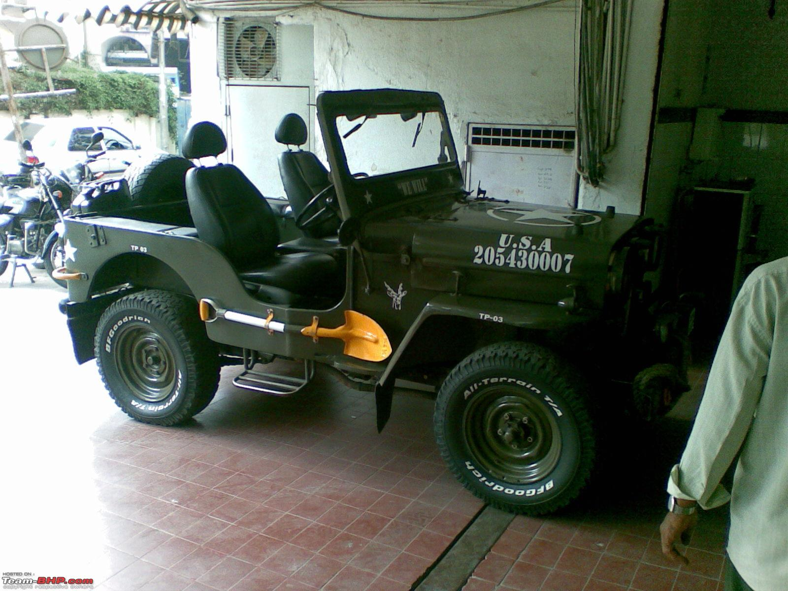 some pics of a vicious looking jeep us army look alike high bonnet team bhp. Black Bedroom Furniture Sets. Home Design Ideas