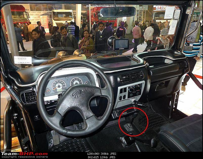 Mahindra Thar revealed at Autoexpo 2010-lever.jpg