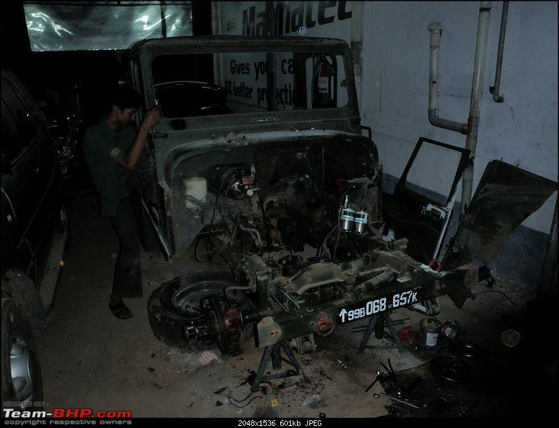 """It's a 'Jeep' Thing!"""" - Army Spec MM550 - Restoration in Bangalore - PHASE 1 COMPLETE-p1150637.jpg"""