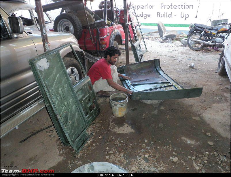 """It's a 'Jeep' Thing!"""" - Army Spec MM550 - Restoration in Bangalore - PHASE 1 COMPLETE-p1210689.jpg"""