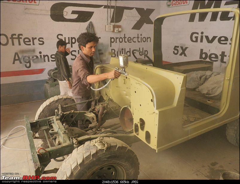 """It's a 'Jeep' Thing!"""" - Army Spec MM550 - Restoration in Bangalore - PHASE 1 COMPLETE-p1290754.jpg"""